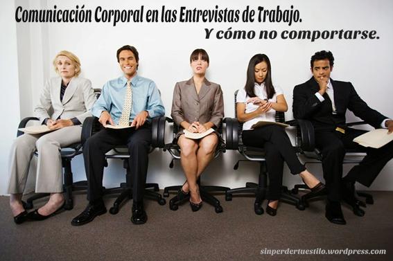 comunicación corporal en entrevistas de trabajo